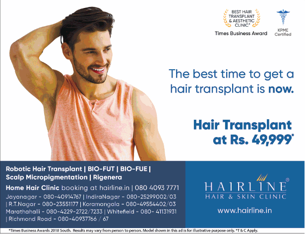 Hairline Hair And Skin Clinic Best Time To Get Hair Transplant Ad
