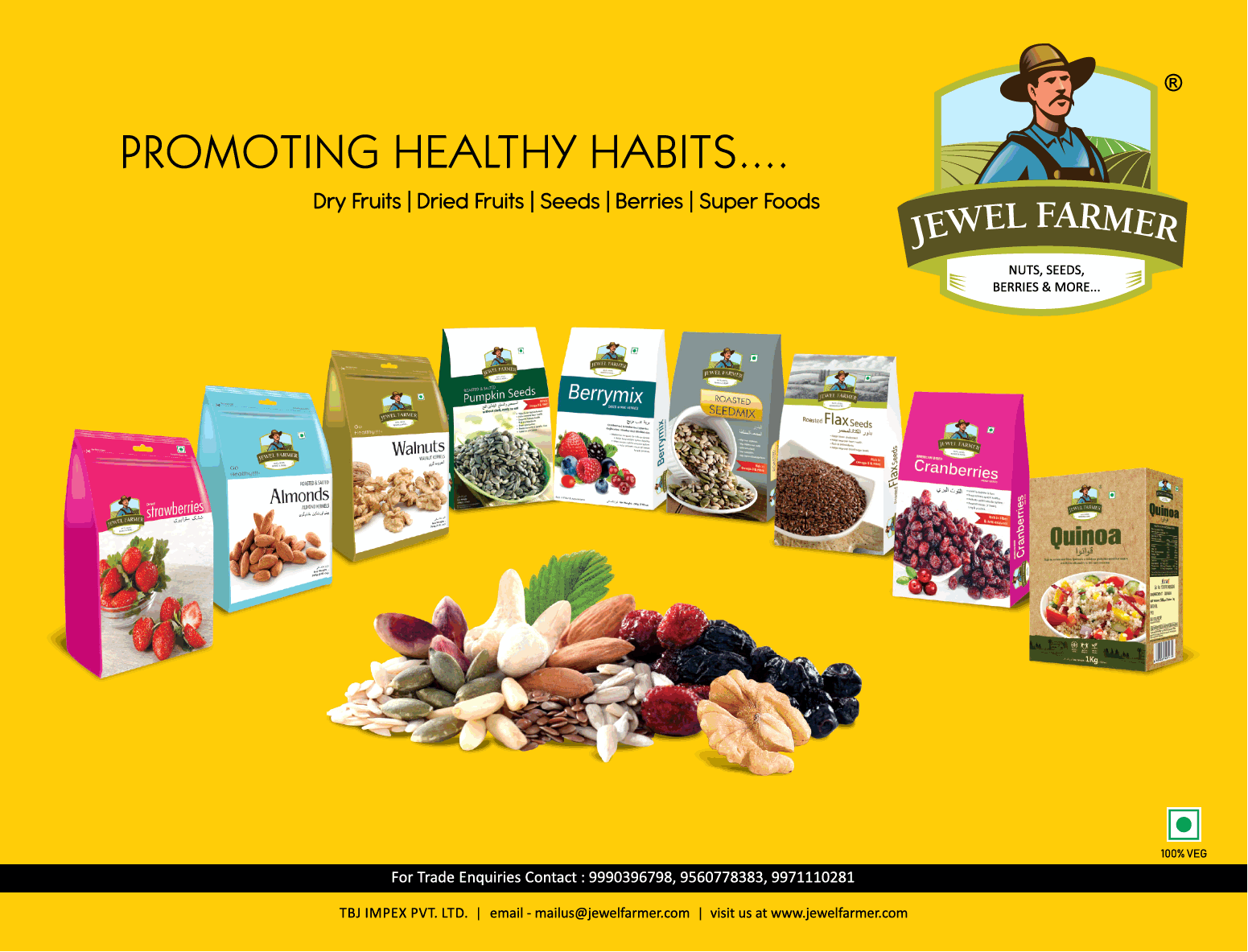 Jewel Farmer Promoting Healthy Habits Ad