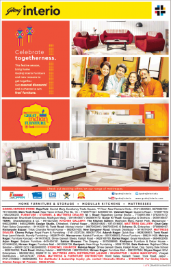 Godrej Interio Celebrate Togetherness Ad
