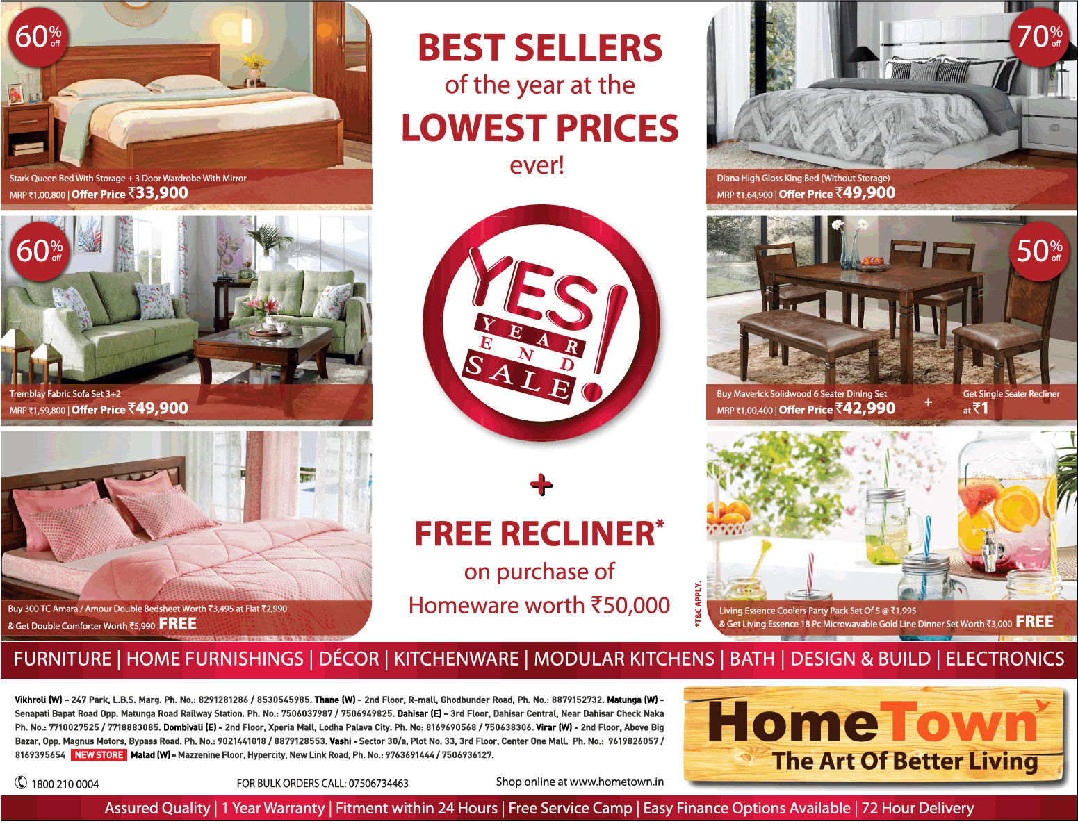 Hometown furniture yes year end sale ad times