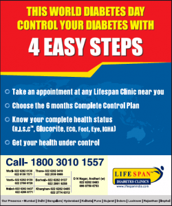 Life Span Diabetes Clinics 4 Easy Steps Ad in Times of India Mumbai
