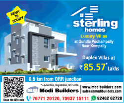 modi-builders-sterling-homes-ad-hyderabad-times-10-11-2018.png