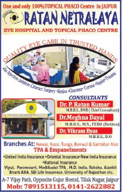 Ratan Natralaya Eye Hospital Ad