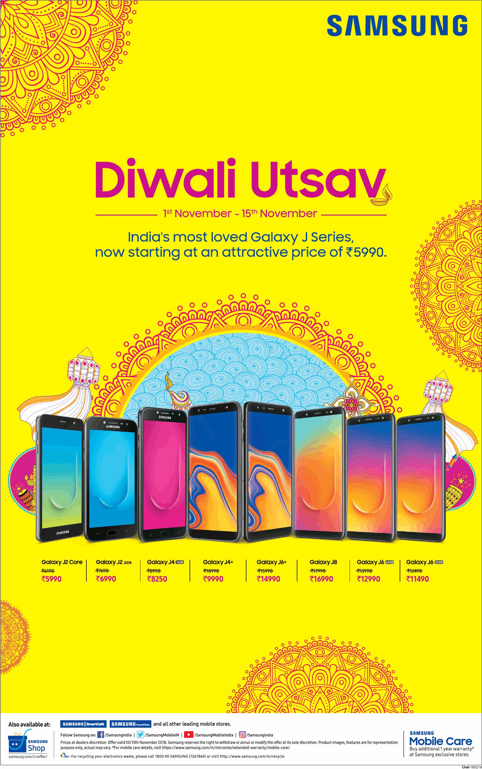 b651a35ab93 Samsung Diwali Utsav India s most loved Galaxy J Series