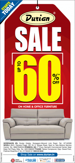 durian-furniture-sale-upto-60%-off-ad-times-of-india-mumbai-22-12-2018.png