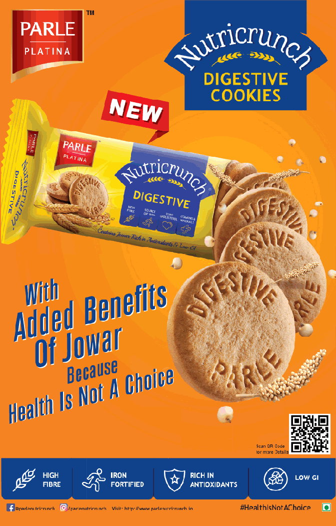 Parle Platina Nutricrunch Digestive Cookies With Added