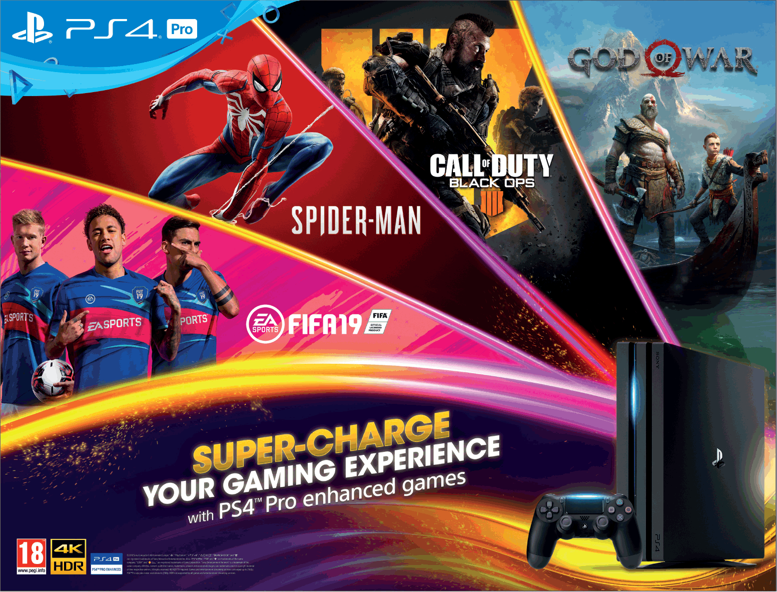 Play Station 4 Pro Super Charge Super Gaming Experience Ad - Advert