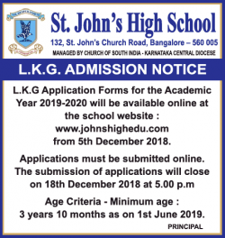 st-johns-high-school-lkg-admission-notice-ad-times-of-india-bangalore-05-12-2018.png