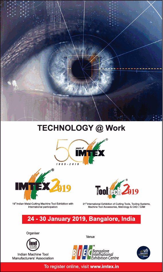 technology at work imtex 2019 tooltech 2019 ad in times of india
